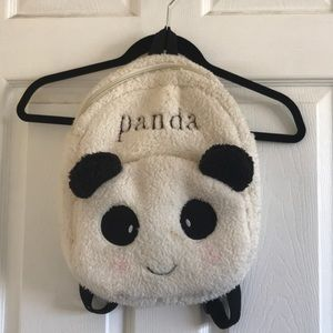 Fuzzy panda backpack